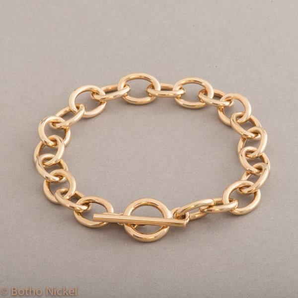 Armband aus 18 Karat Gold mit Knebelverschluss, Botho Nickel Schmuck Hamburg, Juwelier und Goldschmiede